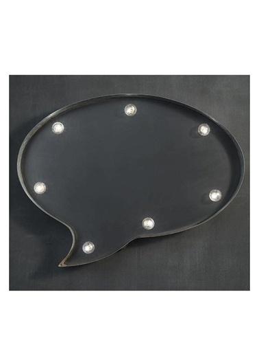 Warm Design LED Konuşma Balonu Duvar Tabelası Siyah